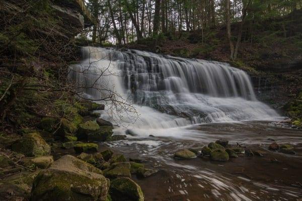 Where is Springfield Falls in northwestern Pennsylvania?