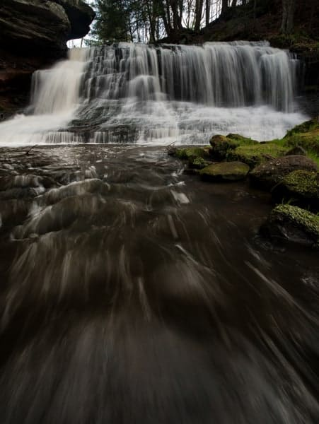 Waterfalls in western Pennsylvania: Springfield Falls