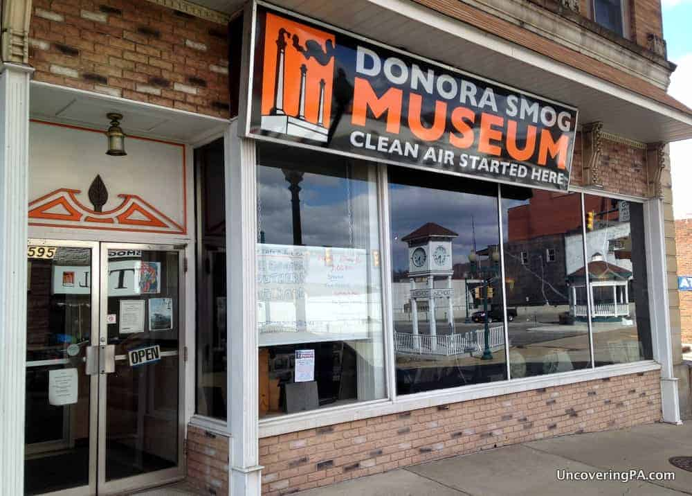 Visiting the Donora Smog Museum in Donora, Pennsylvania.