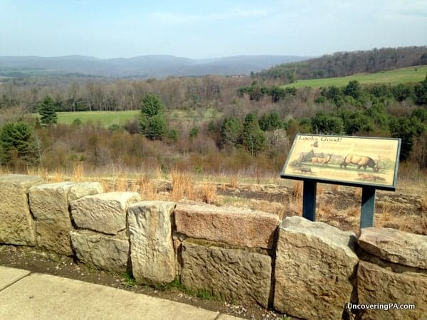 An elk viewing area near the Elk County Visitor center.