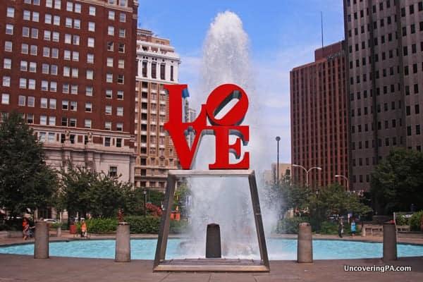 Love Park in downtown Philadelphia.