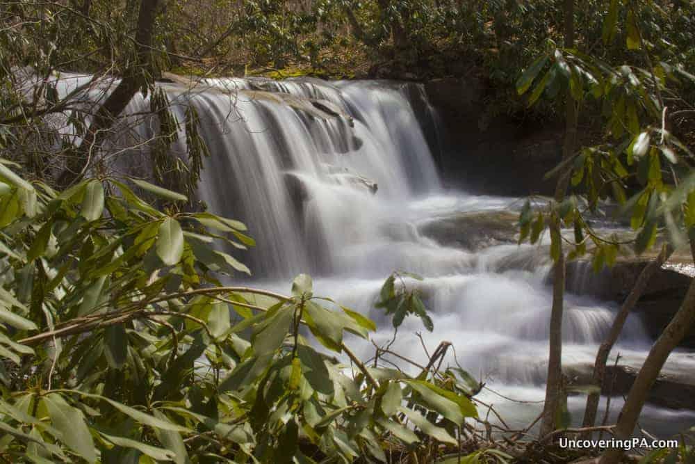 Upper Jonathan Run Falls in Ohiopyle State Park.