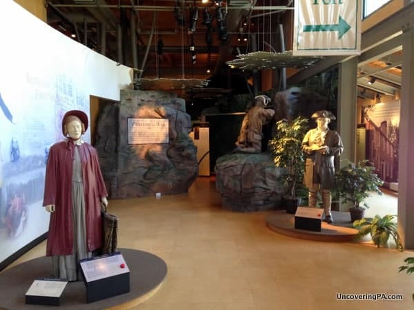 The wonderful museum at Fort Necessity National Battlefield in Pennsylvania's Laurel Highlands.