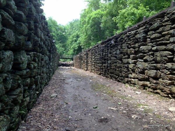 Standing inside the impressive walls of Lock 12 in York County, Pennsylvania.