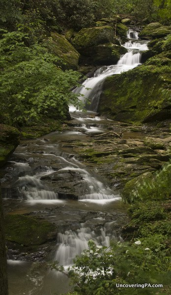 The view of Mill Creek Falls from the Mason-Dixon Trail.