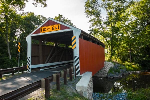 Visiting Rock Covered Bridge in Schuylkill County, Pennsylvania