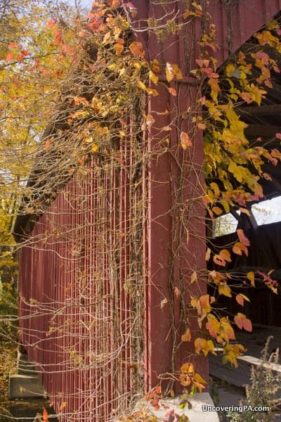 Another view of the beautiful fall colors at Aline Covered Bridge in Snyder County, Pennsylvania.