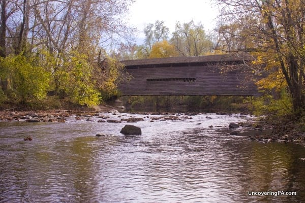 Kennedy Covered Bridge in Chester County, Pennsylvania.