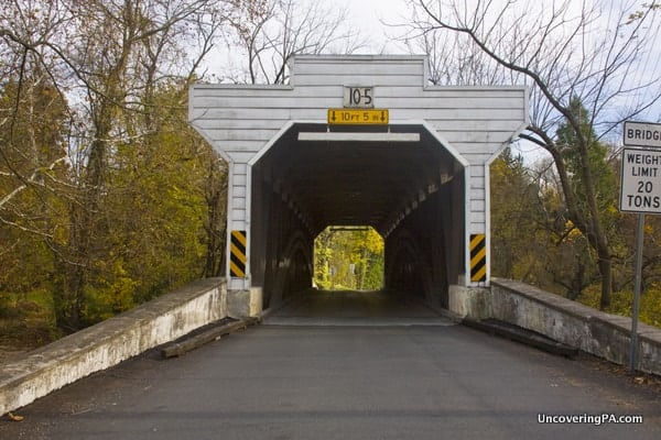 Another view of Kennedy Covered Bridge in Chester County, Pennsylvania.