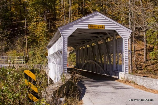 Another view of Knox Covered Bridge in Chester County, Pennsylvania.