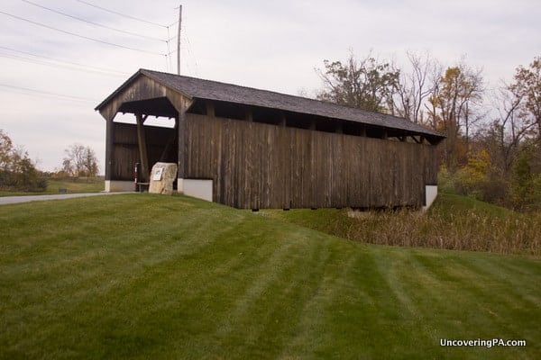 Larkin Covered Bridge in Chester County, Pennsylvania.