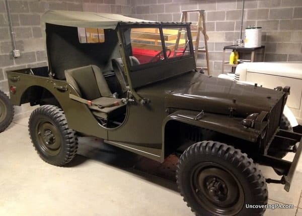 A Bantam Jeep sits in the Butler County Historical Society in Butler, Pennsylvania.