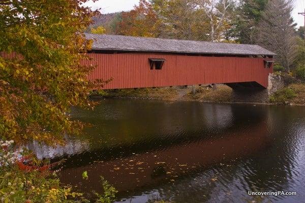 The very scenic Hillsgrove Covered Bridge in Sullivan County, Pennsylvania.