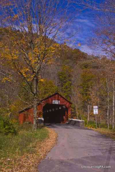 Soneston Covered Bridge in Sullivan County, Pennsylvania.