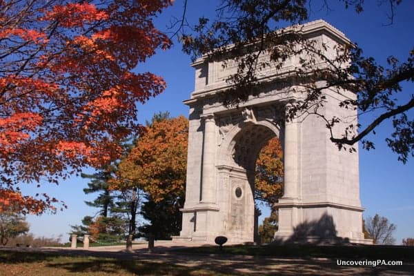 Valley Forge in the autumn