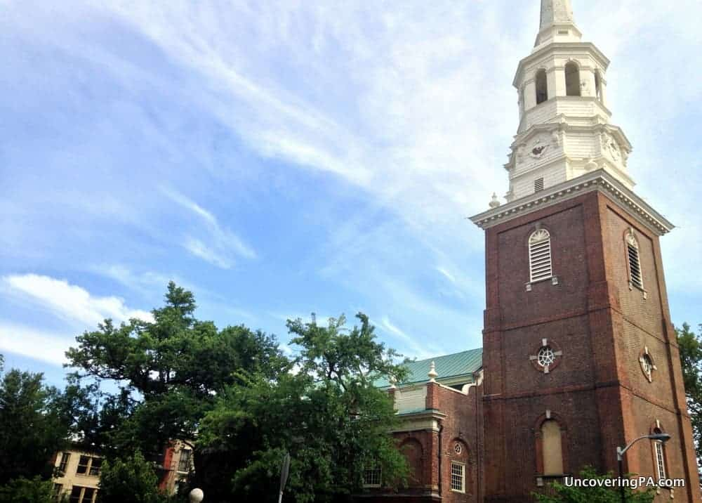 Visiting Christ Church in Philadelphia, Pennsylvania.