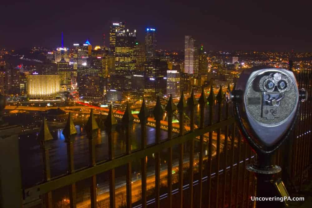 View from Mount Washington in Pittsburgh, Pennsylvania