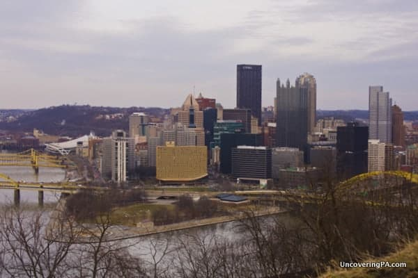 The view from Mount Washington in Pittsburgh, Pennsylvania.