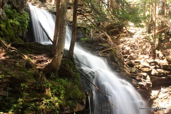 Dutchman Falls along the Loyalsock Trail in Sullivan County, Pennsylvania.