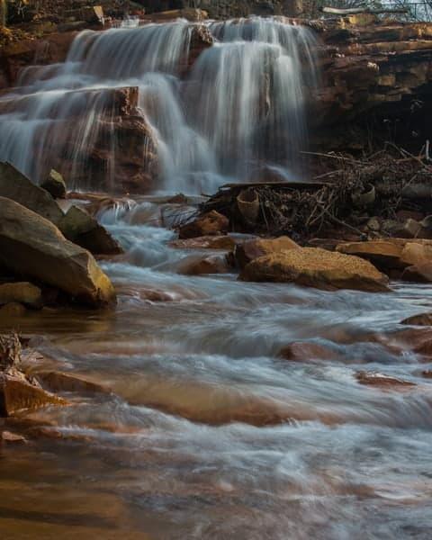 Paint Falls in Paint, Pennsylvania.