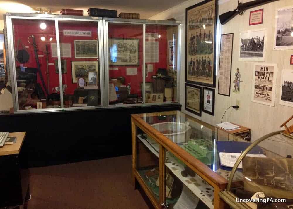 Visiting the Saltsburg Historical Society in Indiana County, Pennsylvania.