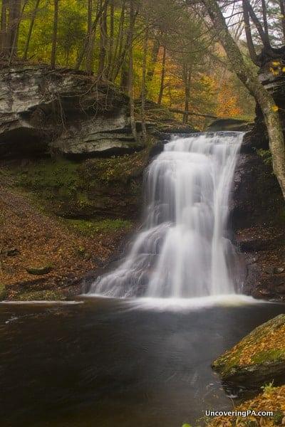 Visiting Sullivan Falls in State Game Lands 13, Sullivan County, Pennsylvania.