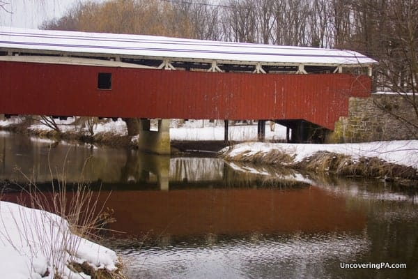 How to get to Bogert's Covered Bridge crosses Little Lehigh Creek in Leigh County, Pennsylvania.