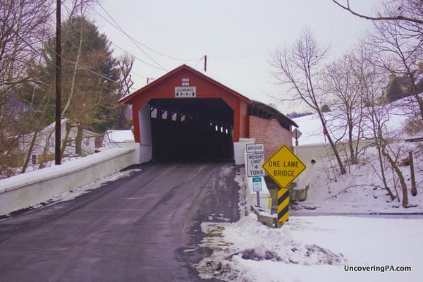 How to get to Rex's Covered Bridge in Lehigh County, Pennsylvania.
