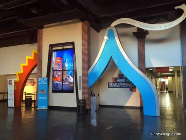 The entrance to the Great Chocolate Mystery 4D Show at Hershey Chocolate World.