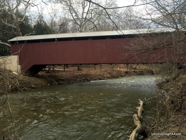 How to get to Baumgardner's Covered Bridge in Lancaster County, Pennsylvania.