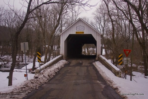 Sheard's Mill Covered Bridge in Bucks County, PA.
