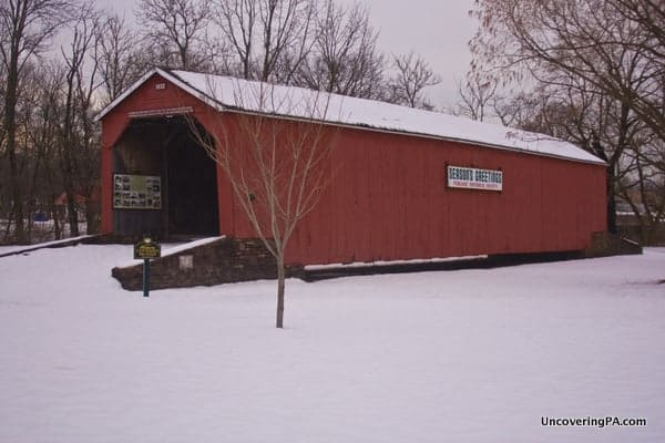 South Perkasie Covered Bridge in Perkasie, PA.