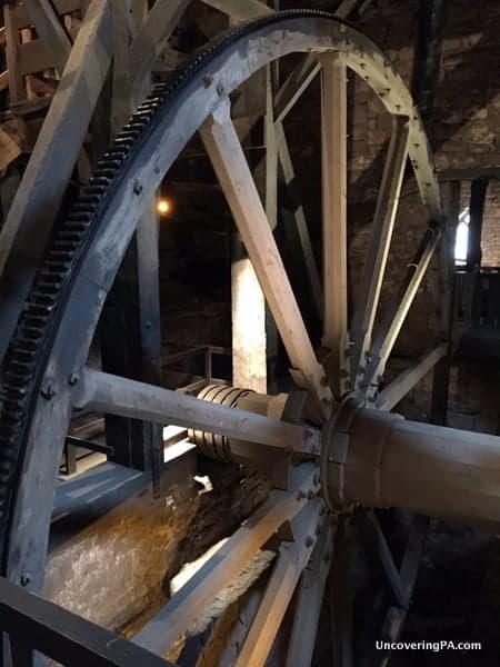 The Giant Wheel in Cornwall Iron Furnace in PA