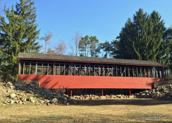 Another view of Harrity Covered Bridge in Carbon County, PA