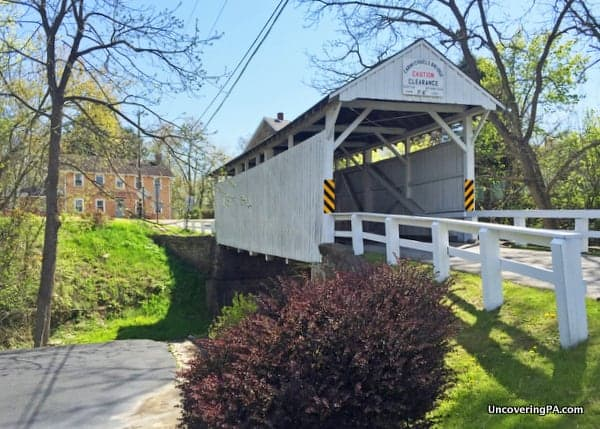 How to get to Carmichaels Covered Bridge in Carmichaels, Pennsylvania.