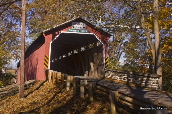 Fleisher Covered Bridge near Newport, Pennsylvania.