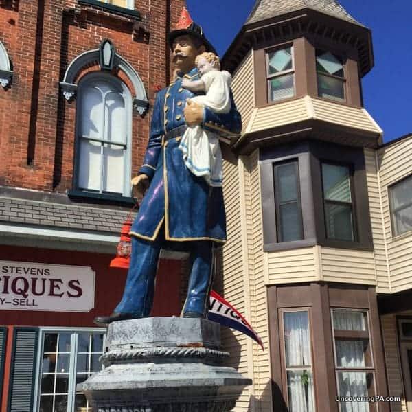 The Fireman's Drinking Fountain in Slatington, Pennsylvania