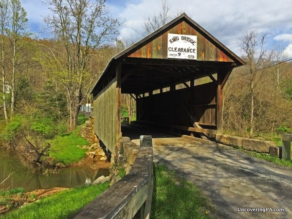 How to get to King Covered Bridge in Greene County PA