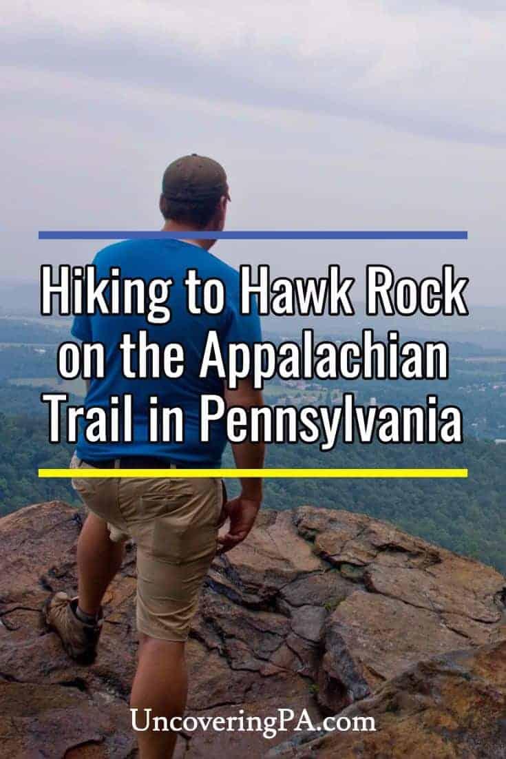 Hiking to Hawk Rock along the Appalachian Trail near Harrisburg, Pennsylvania.