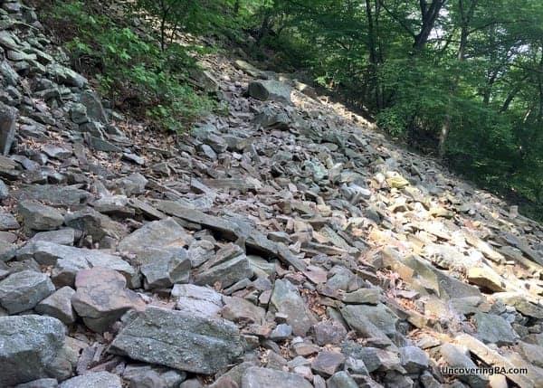 Rocks on the Hawk Rock Overlook Trail