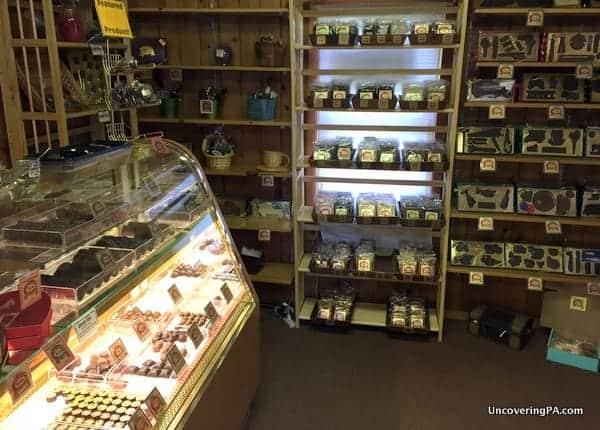 Visiting Highland Chocolates in Wellsboro PA