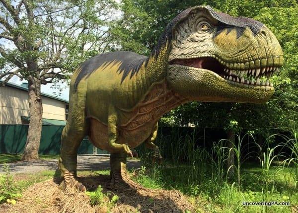 Animatronic Dinosaur at Clyde Peeling Reptiland near Williamsport, PA