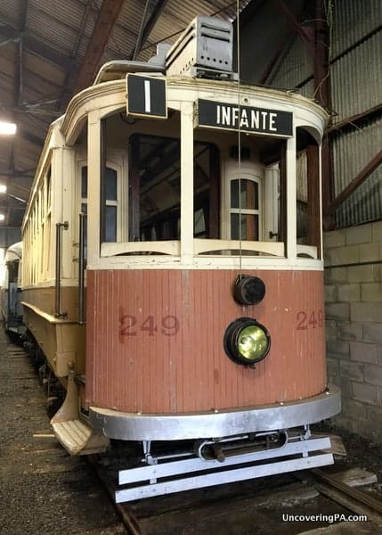 Restored trolley at the Rockhill Trolley Museum in Pennsylvania