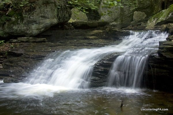 The fourth waterfall on Miners Run, Loyalsock State Forest PA
