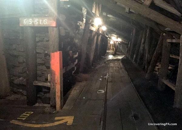 inside the Lackawanna Coal Mine in Scraton's McDade Park.