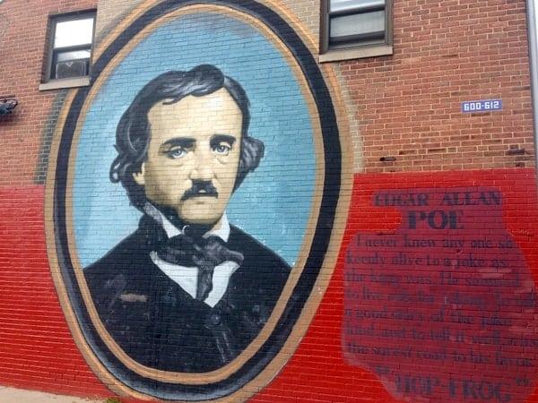 Edgar Allan Poe National Historic Site Mural in Philadelphia, Pennsylvania.