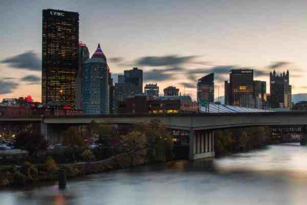 Where to see sunset in Pittsburgh: 16th Street Bridge