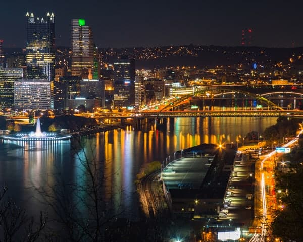 Places to photograph Pittsburgh, PA: West End Overlook