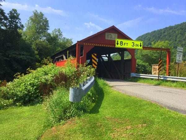Buttonwood Covered Bridge in Lycoming County, Pennsylvania