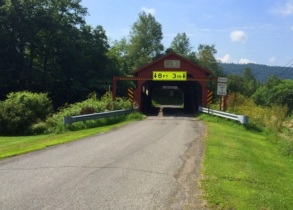 Visiting Buttonwood Covered Bridge in Lycoming County, PA
